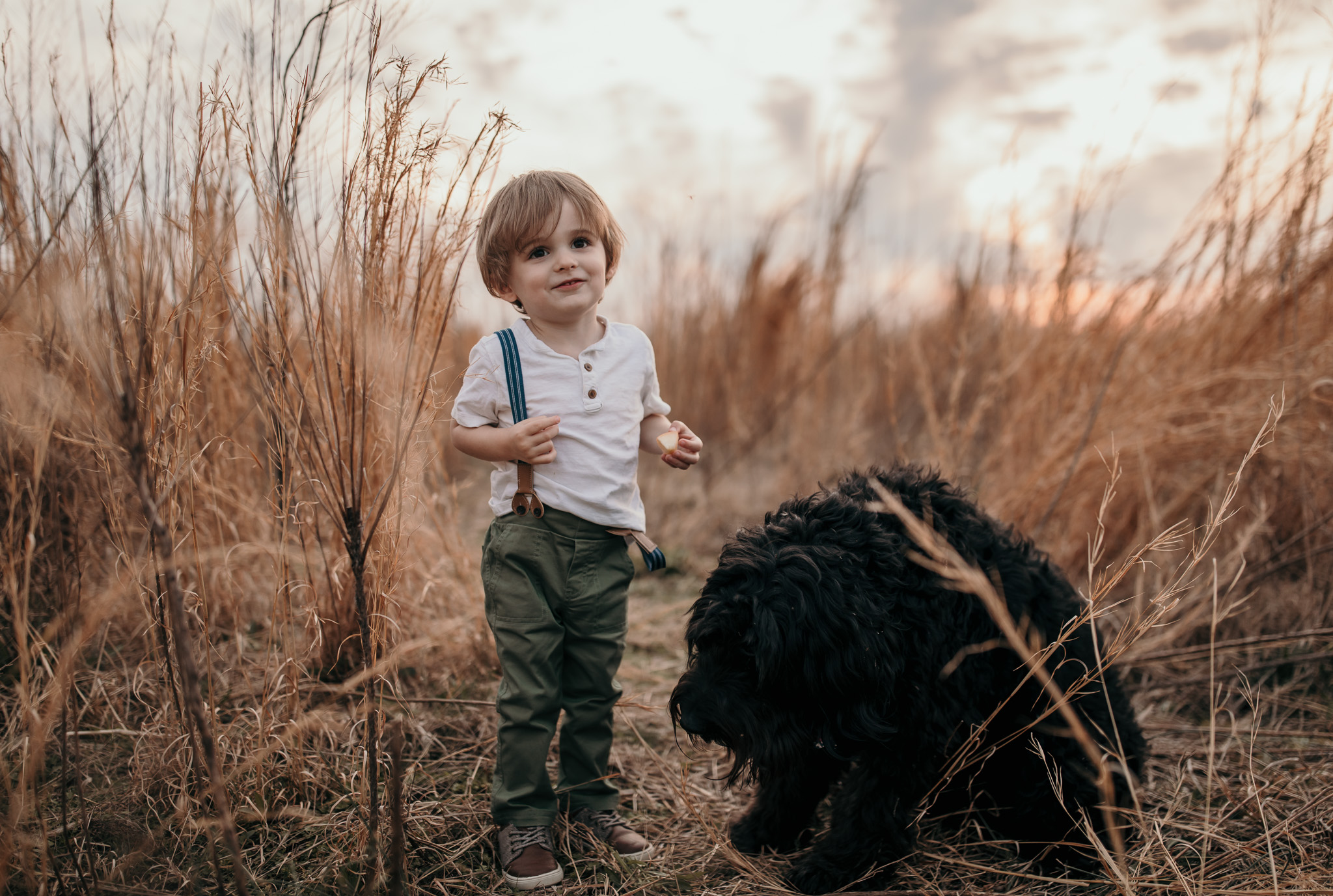 Young Boy and His Dog
