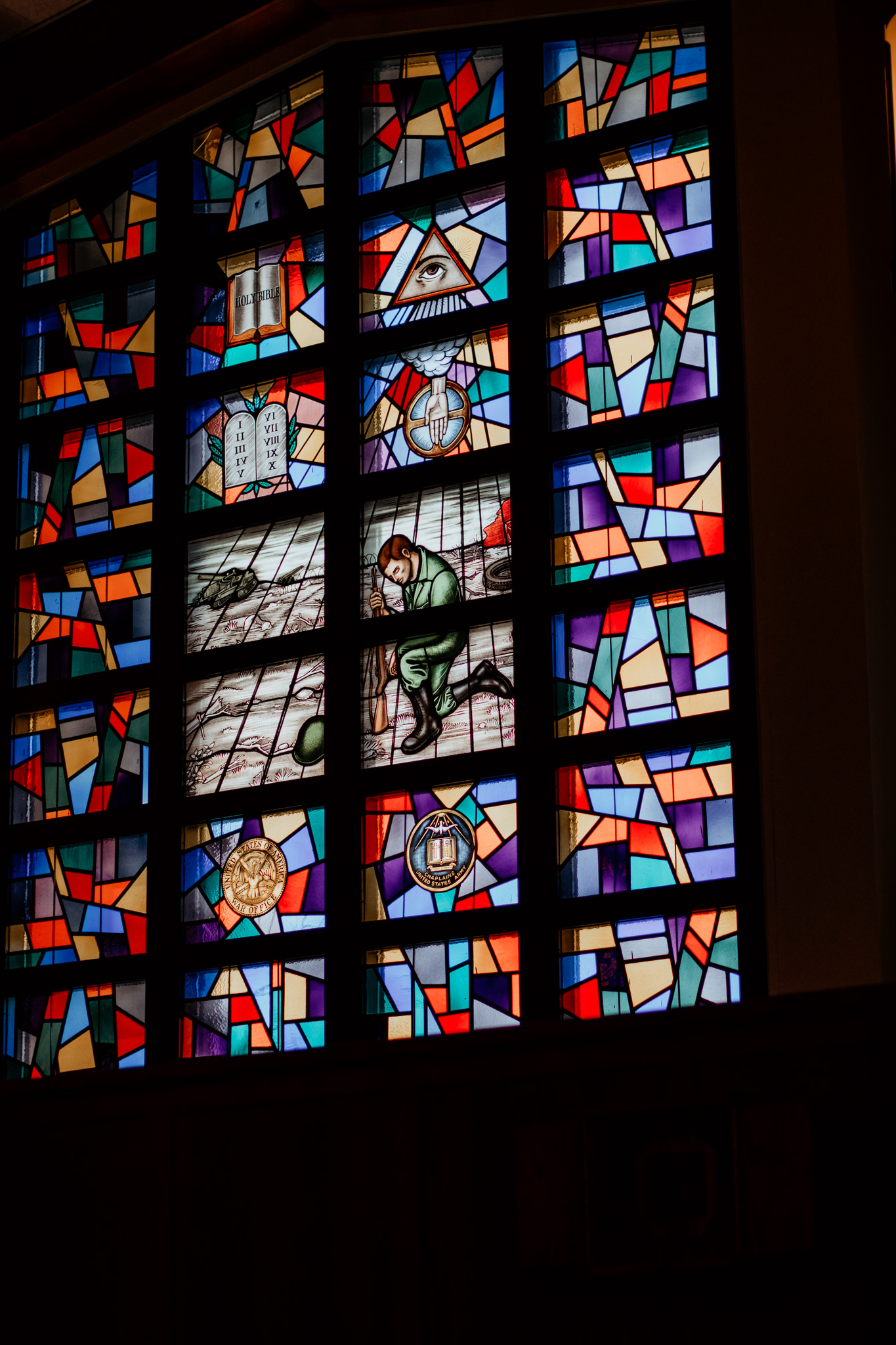 Stained Glass Window Church on Fort Campbell