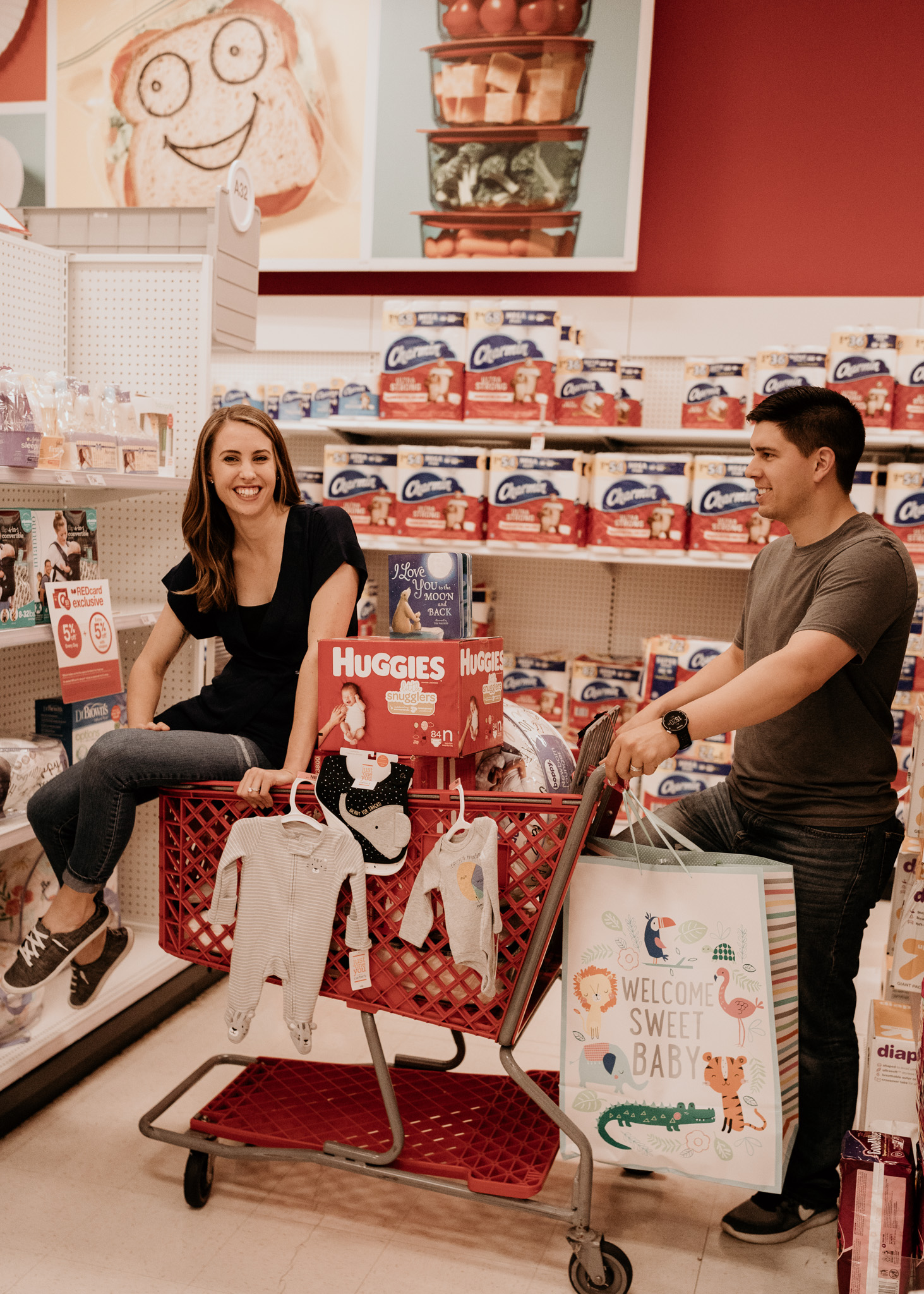 Soon to Be Parents Shopping for Baby