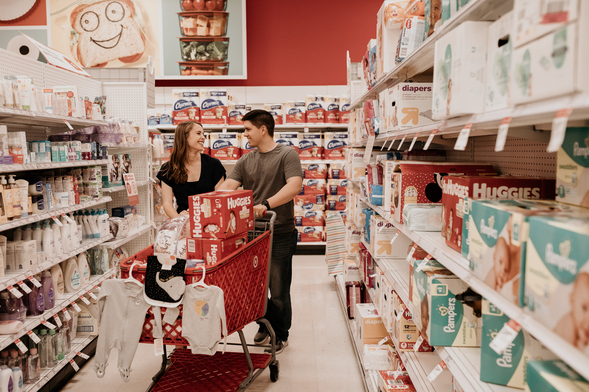 Couple Shopping at Target for Baby