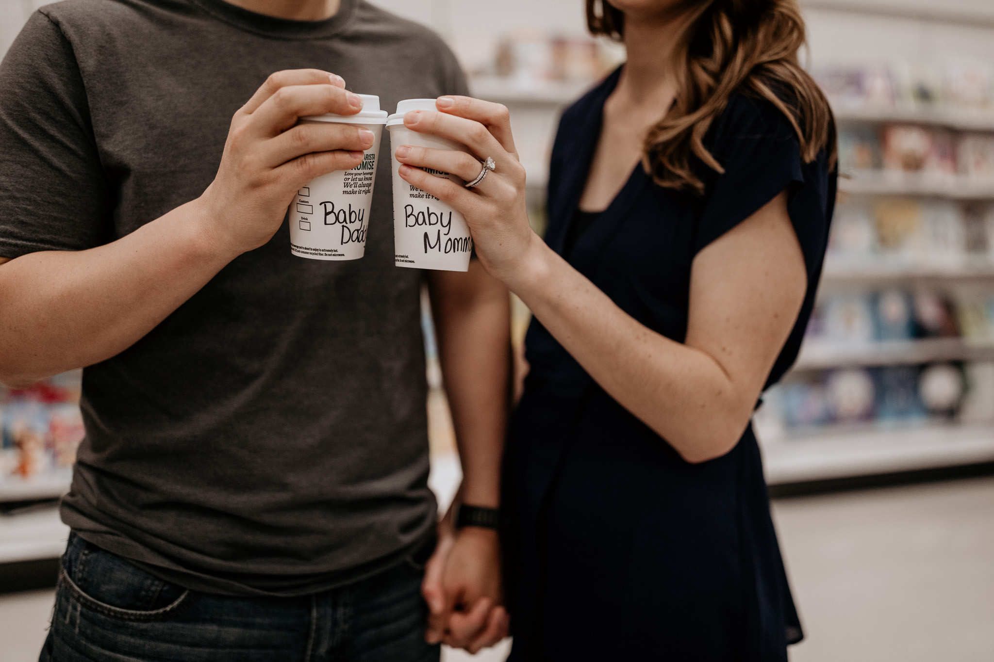 Pregnancy Announcement with Starbucks