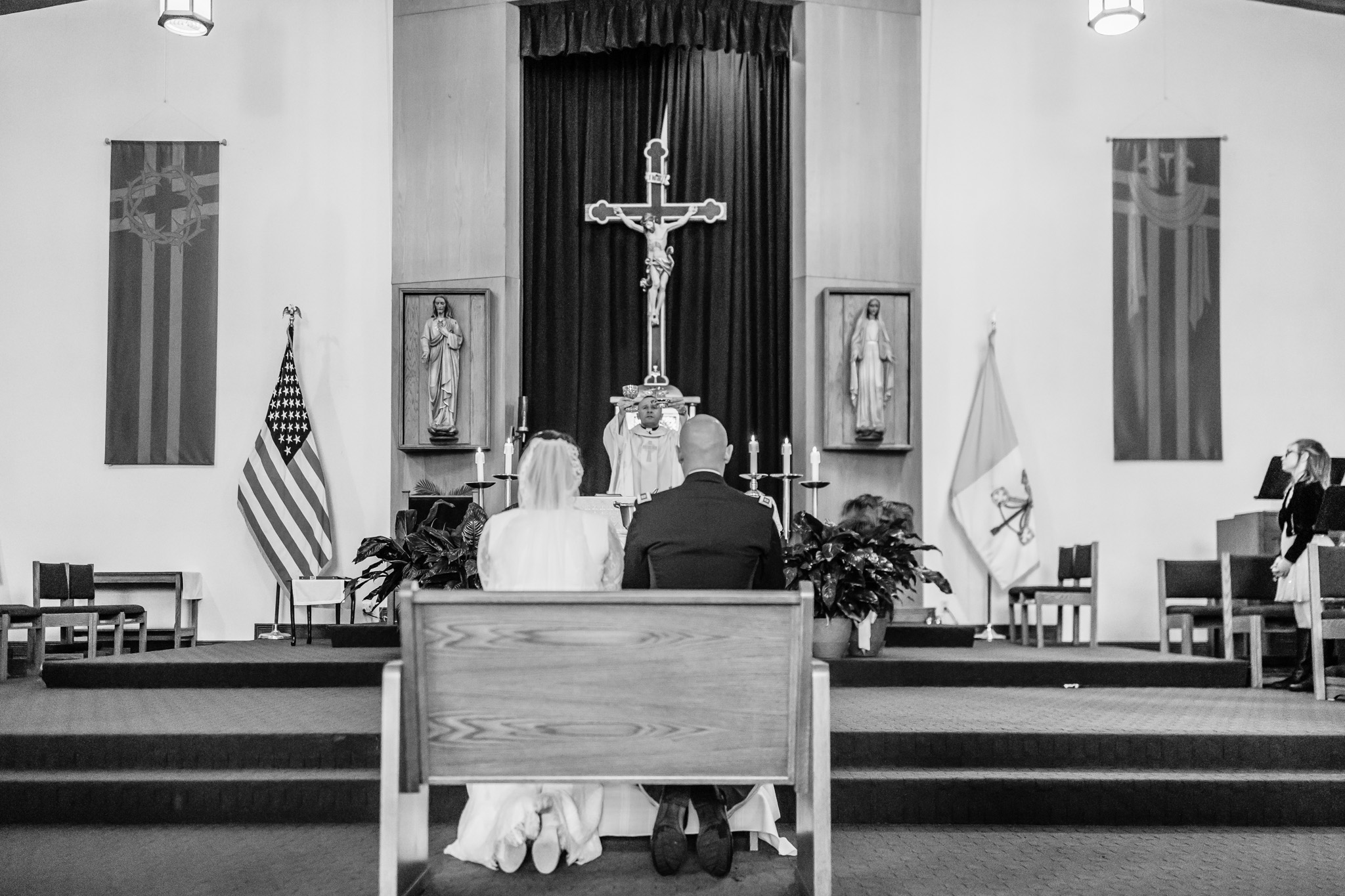 Black and White Wedding Photo