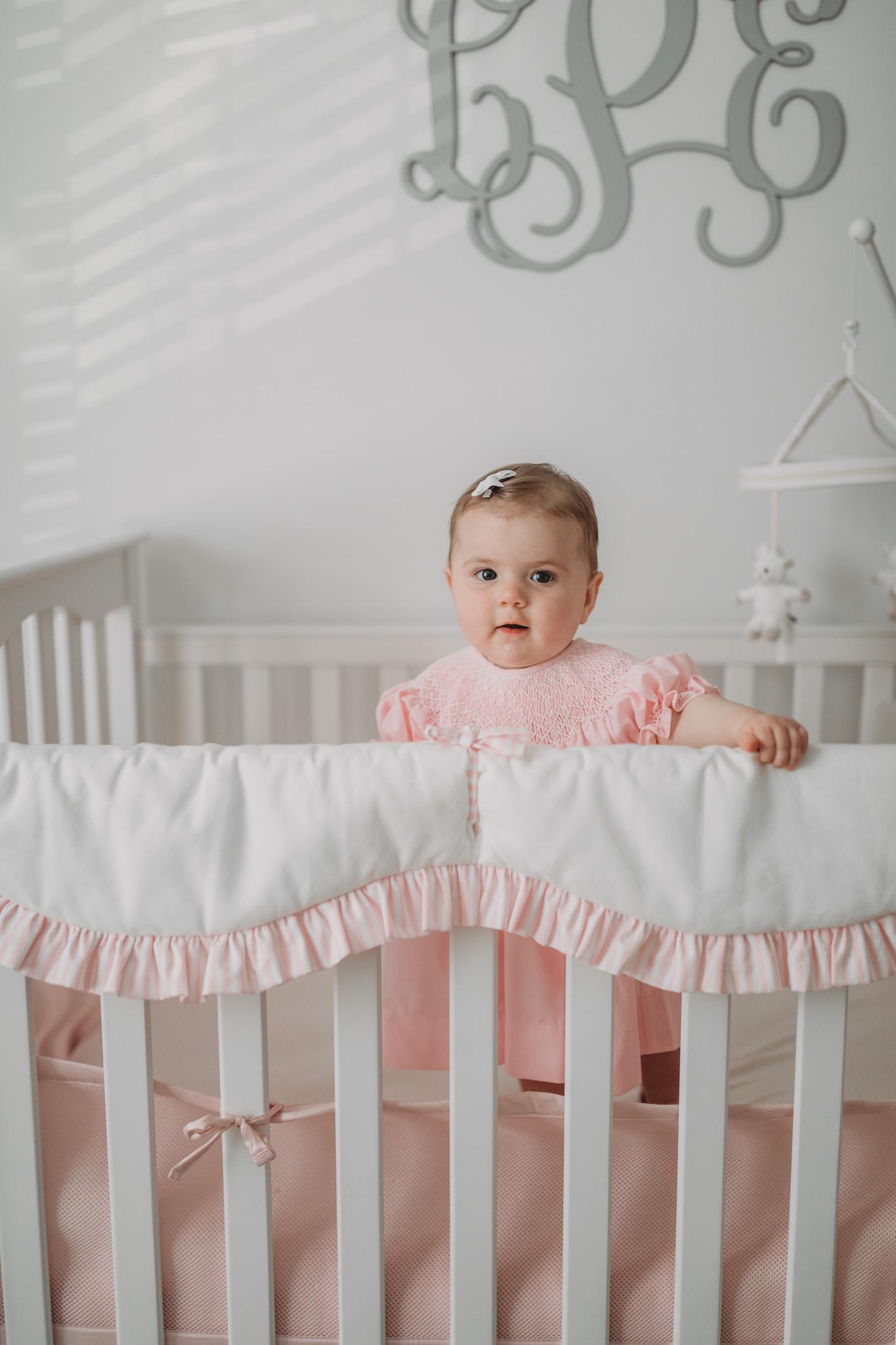 Toddler Standing in Crib