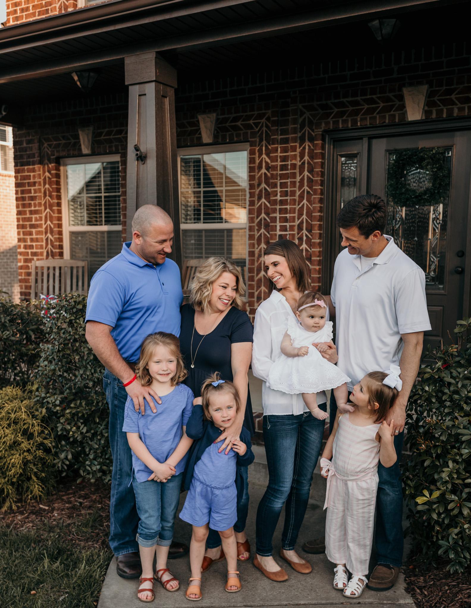 Clarksville Family Standing Outside