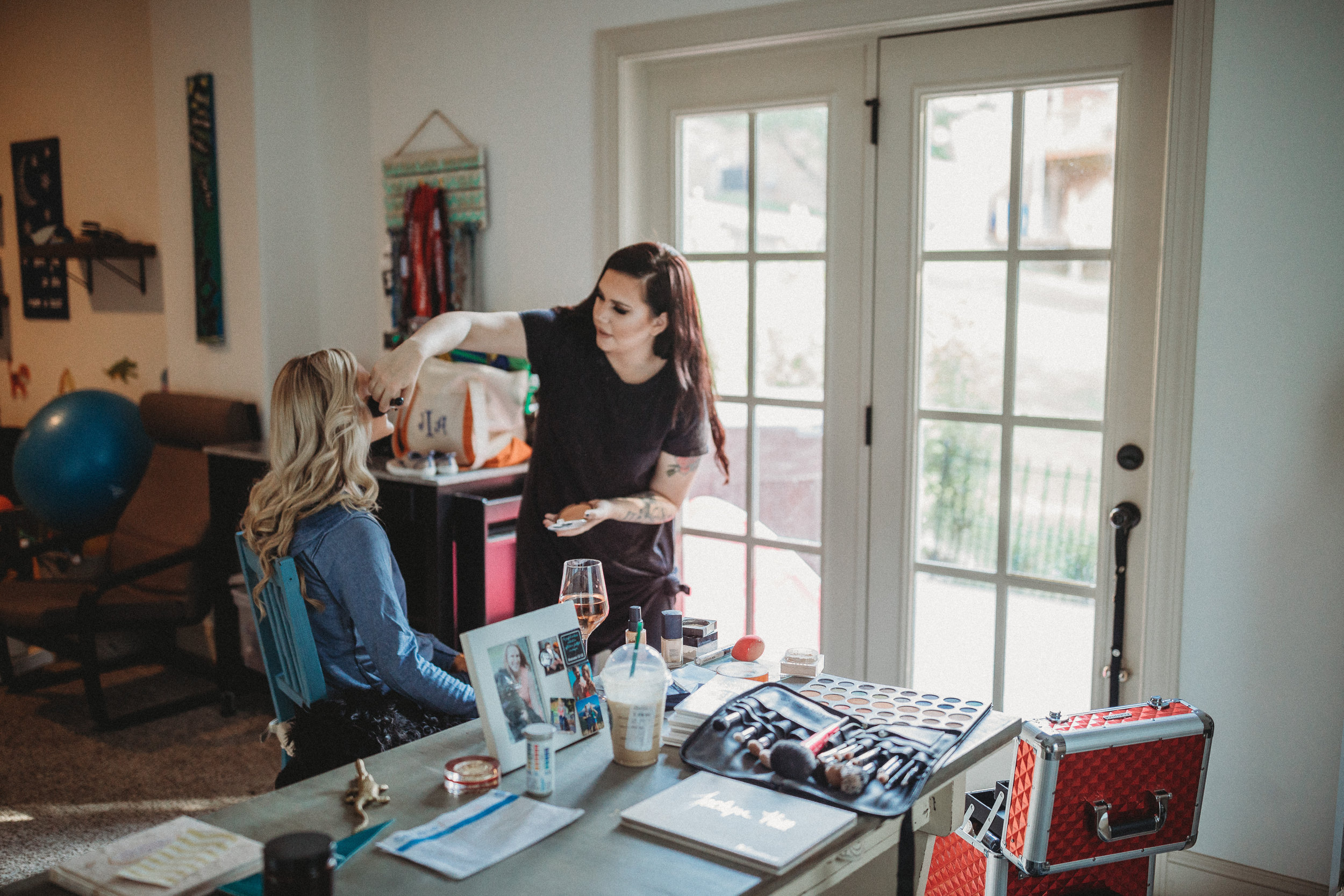 Pre session behind the scenes makeup