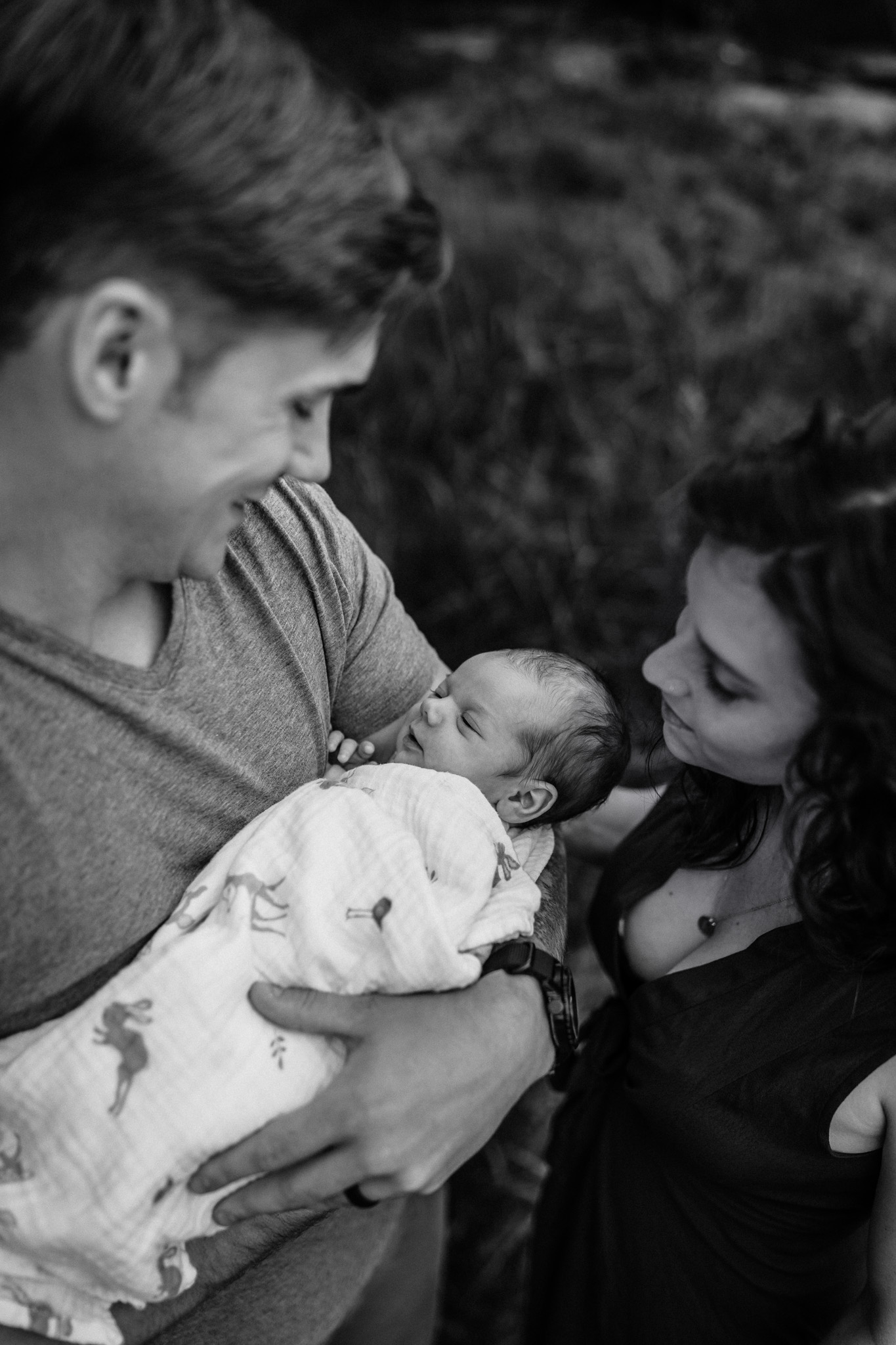 baby outside for newborn photos