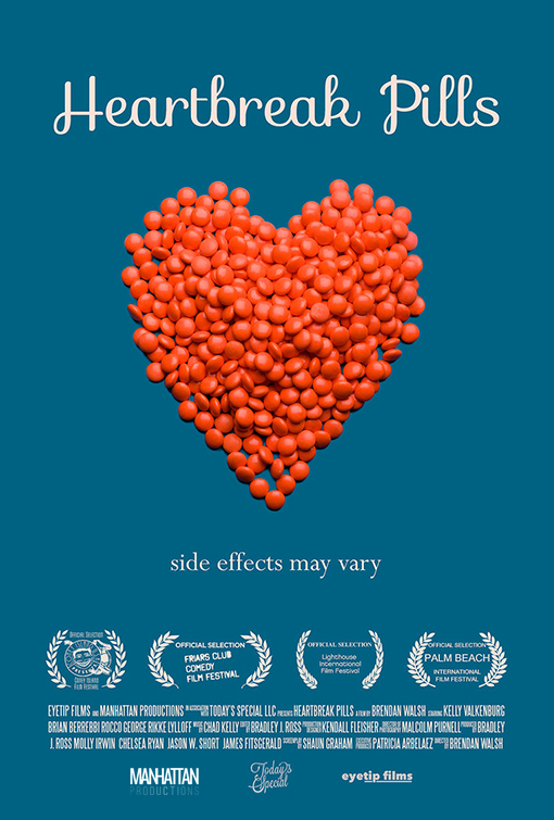 HEARTBREAK PILLS - When a relationship ends in sorrow, the only cure might be a little, magic pill.Director: Brendan WalshEditor: Bradley RossProducers: patricia arbelaez, molly irwin, Bradley Ross
