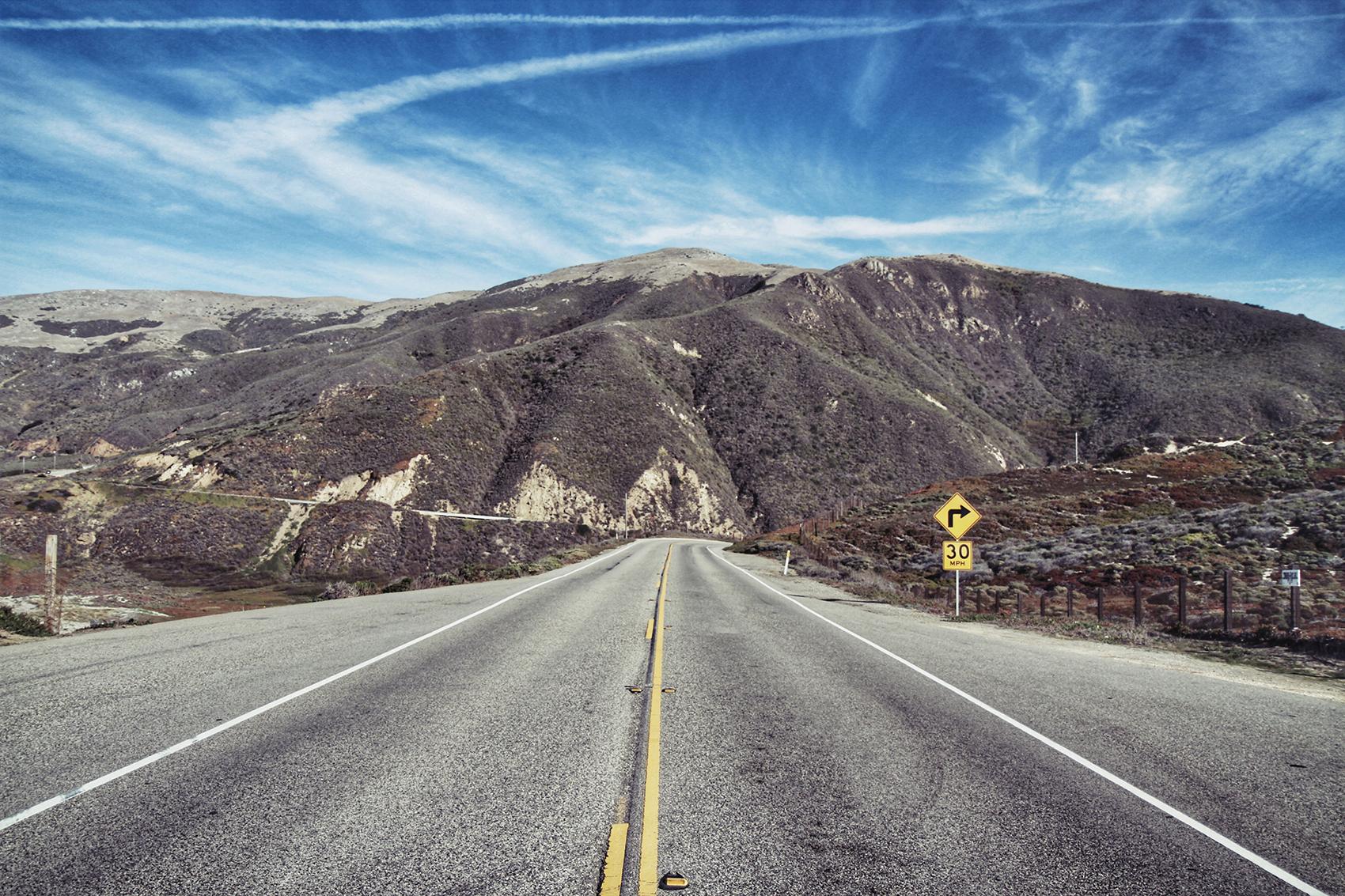 towards the mountains