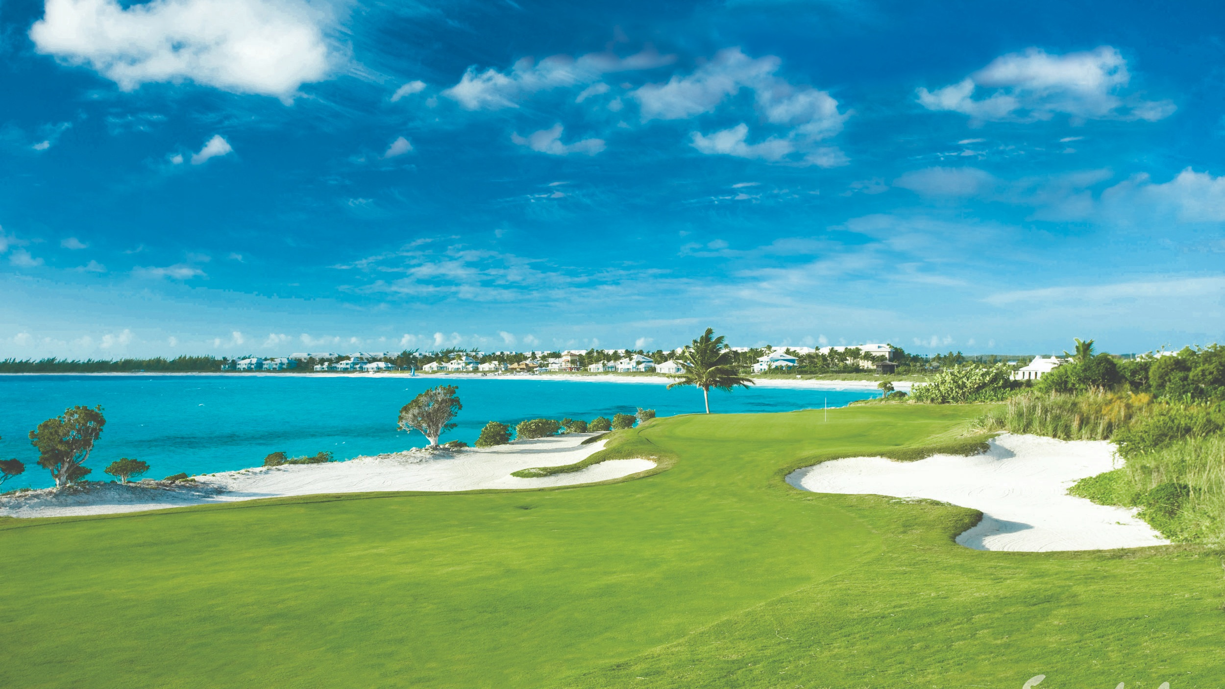 Don't get distracted by the beautiful view… - Play a few rounds on Sandals! Golf courses to match every par! All greens fees are included!