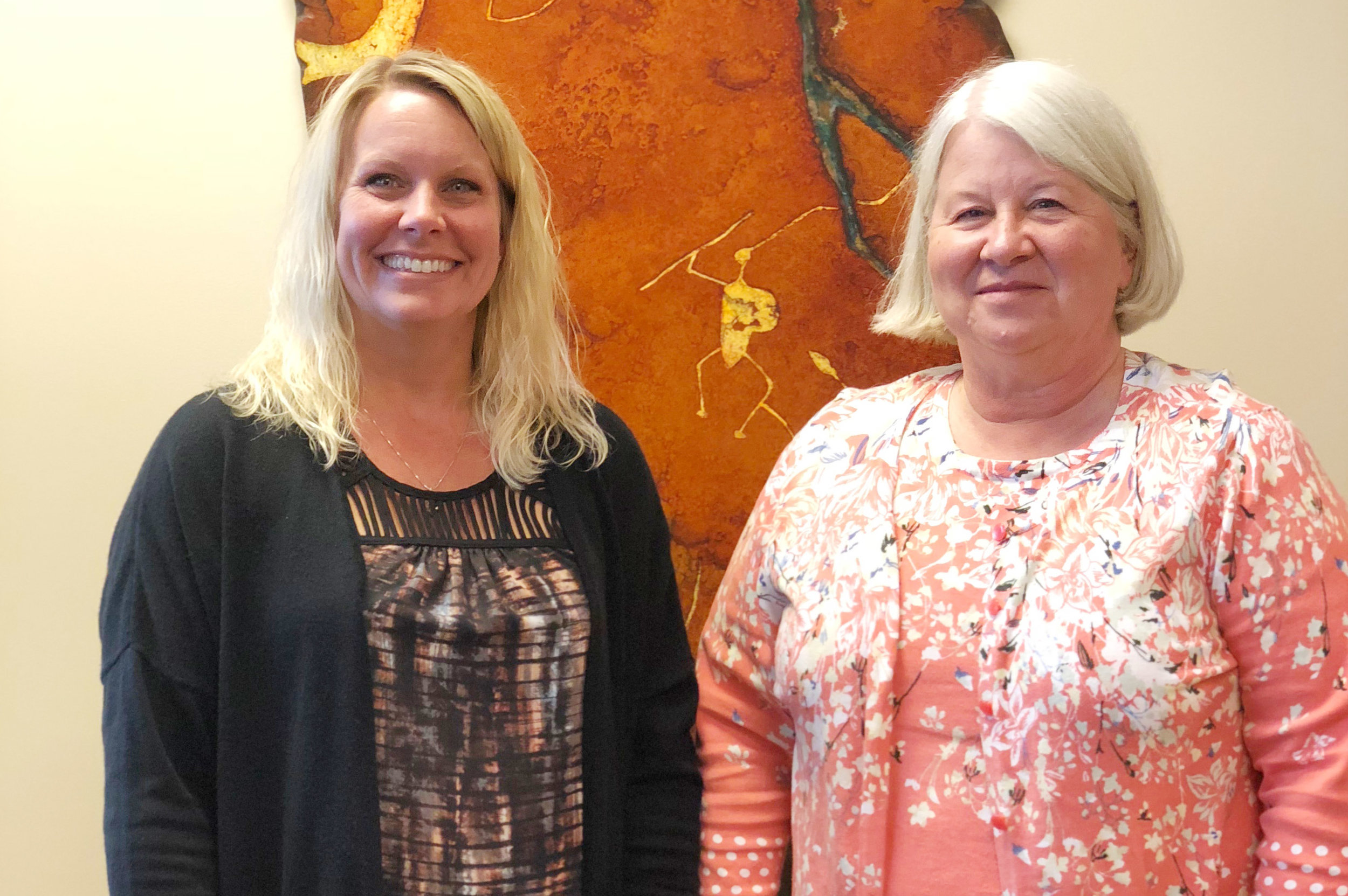 Lisa Spanel, administrative assistant and Char Martins, RN, office manager and registered nurse