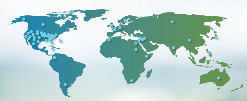 Our reach - We have cared for patients from all regions of the United States and from countries across the globe.