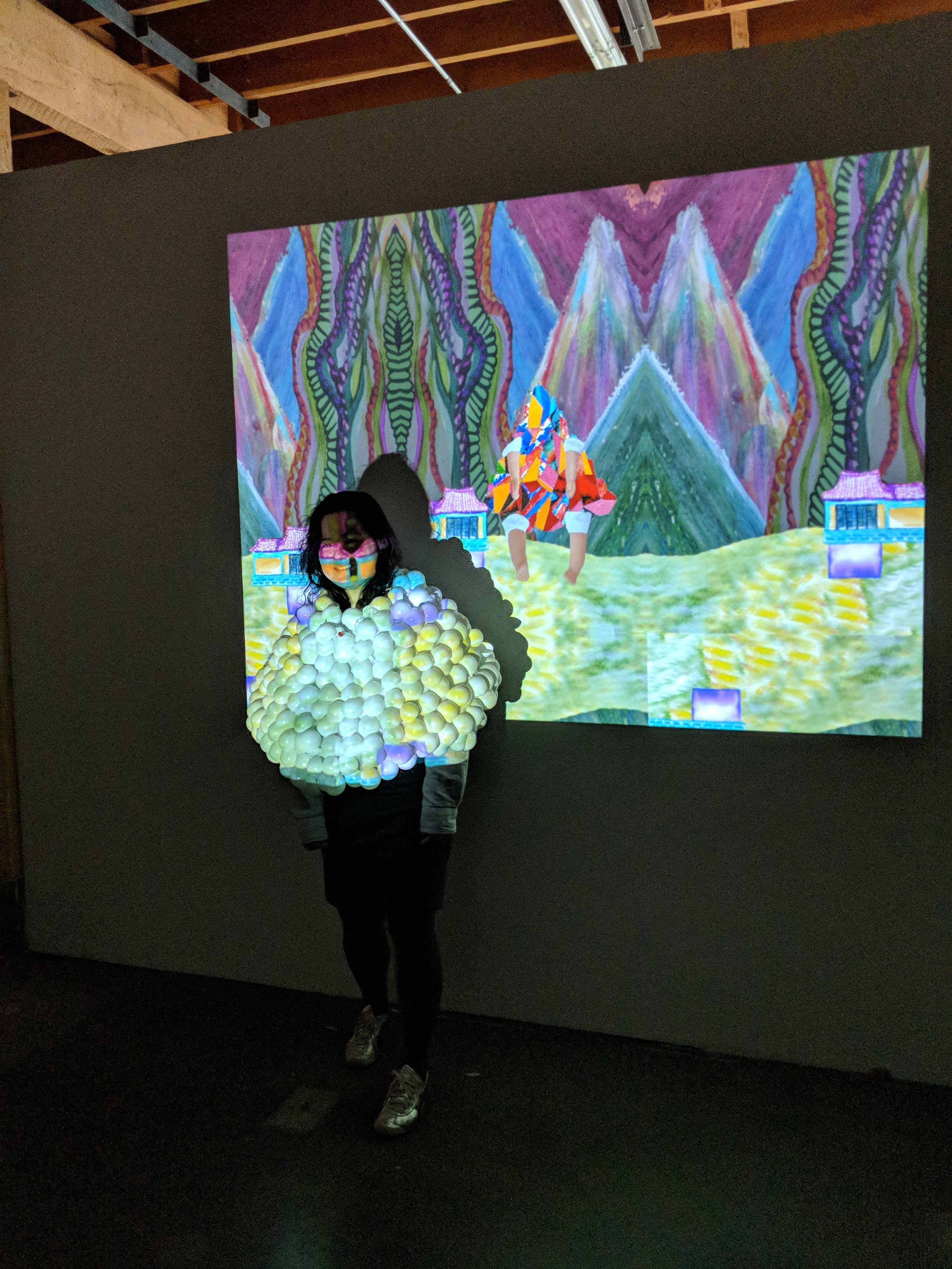 "Chanhee Choi: ""Loop Pa Pow Dress""  A wearable video-game controller bridging the physical with the digital realm."