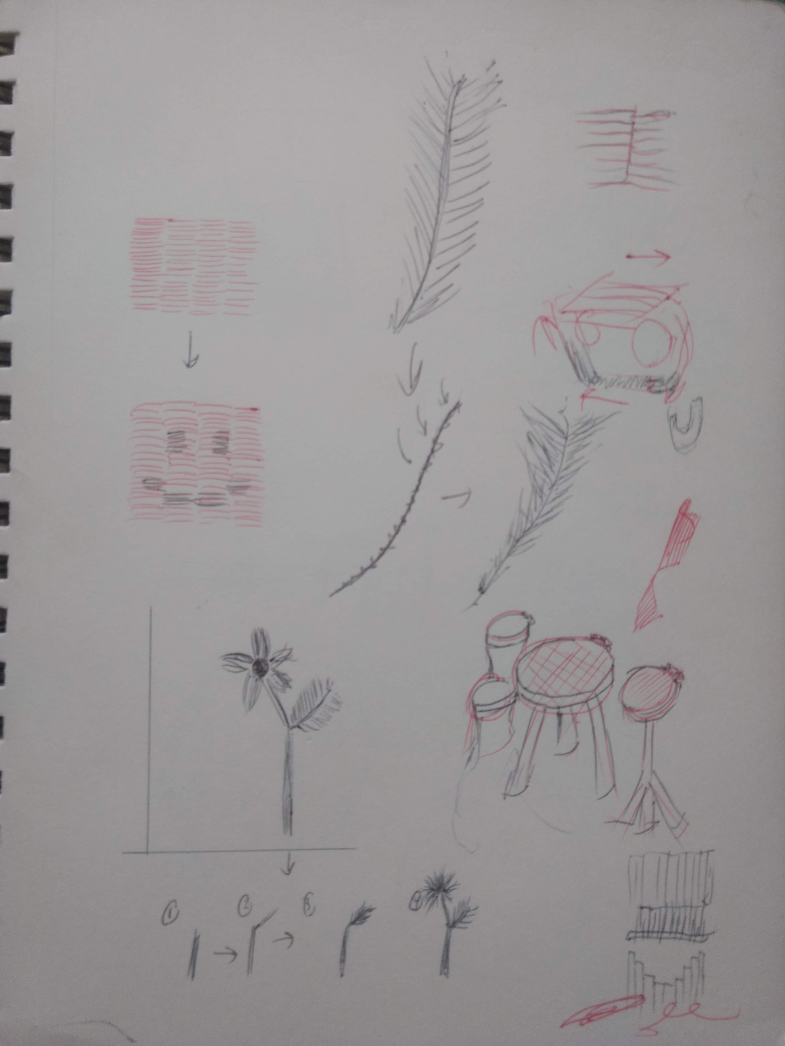 Sketch page of some possible uses/ ideas to prototype