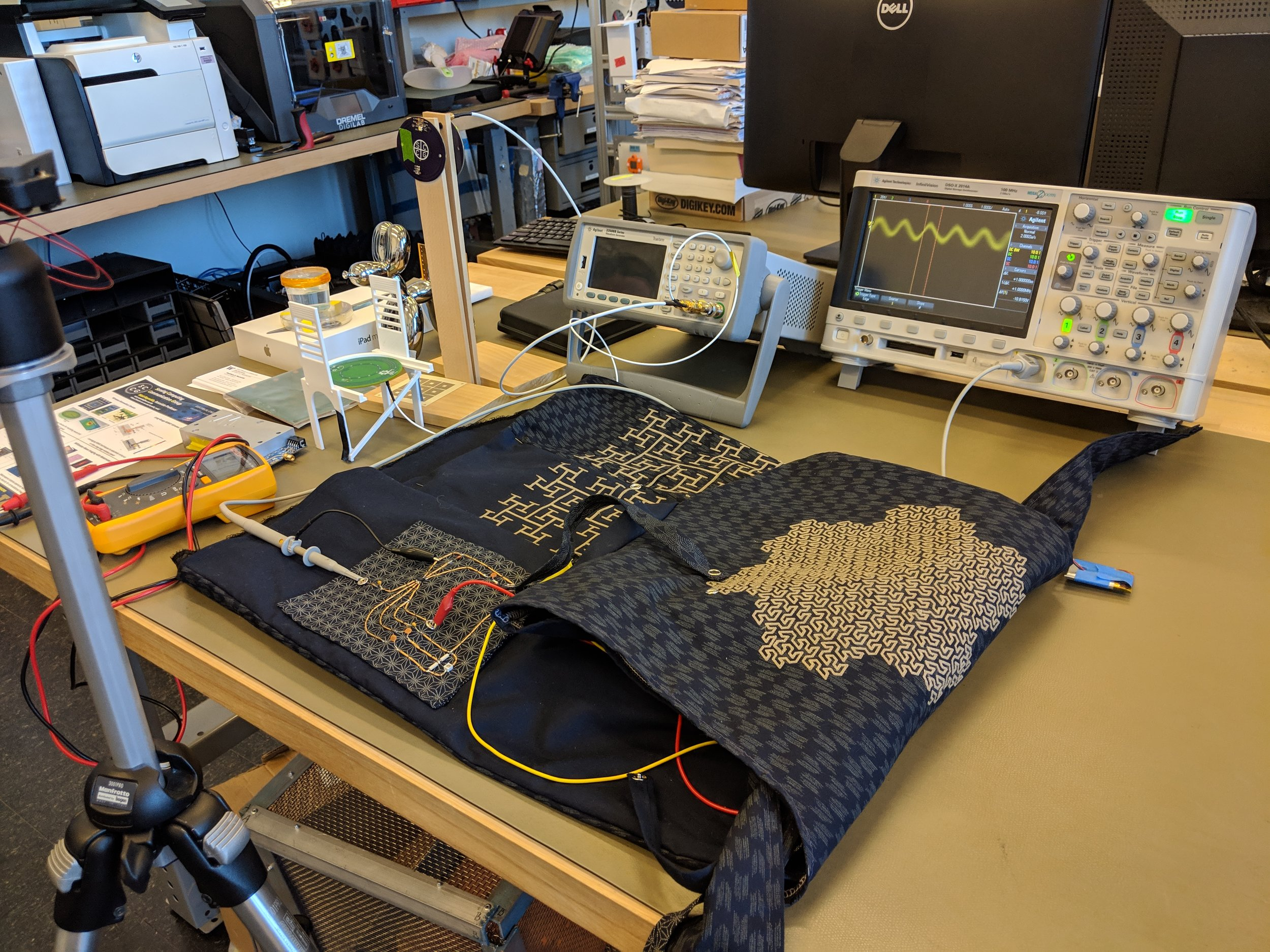 Following the previous posts on Fractal Antennae and VNA measurements, this is the tuning process for the down converter circuit of the wearable. This experiment took place at the Reynolds Lab in Electrical Engineering at UW with the valuable help of James Rosental (PhD student in E.E.).