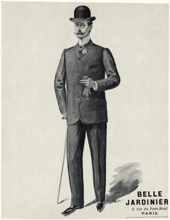 Man in Suit, Photo from New York Public Library.