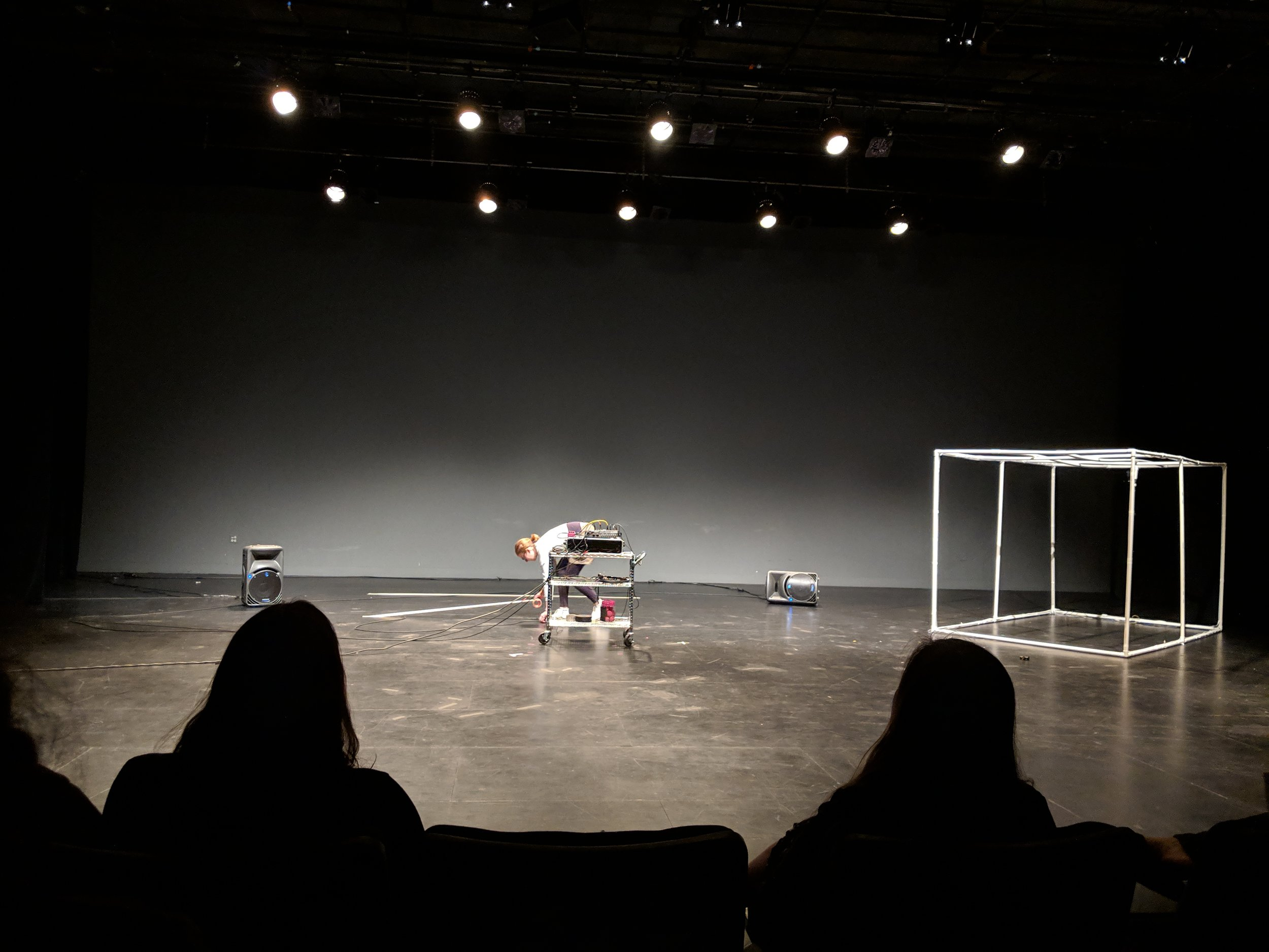 Performing at On the Boards' Performance Lab on April 24, 2019