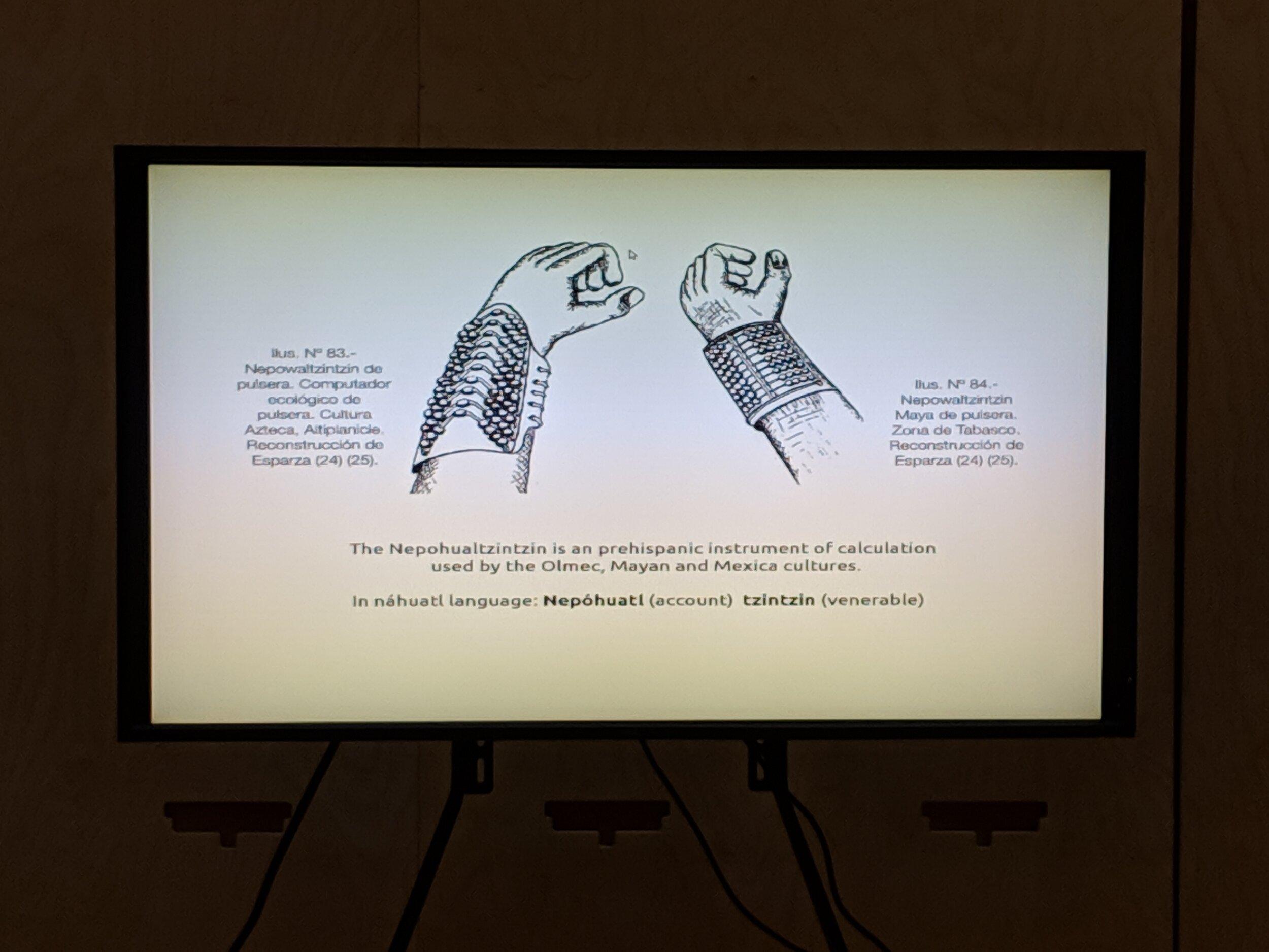 Prehispanic technologies that inspired Constanza's Piña' s  Khipu