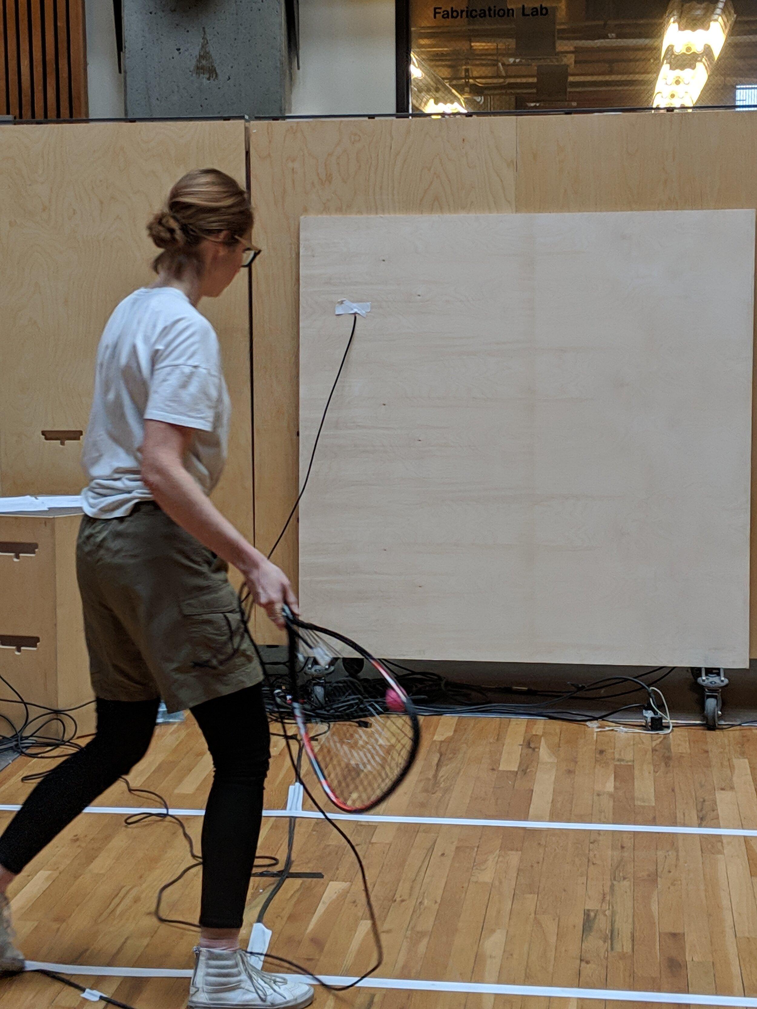 Heidi Biggs performing  Racketball Score