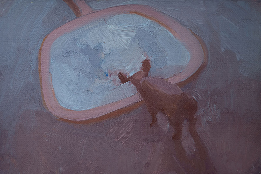 """Great Perfect Mirror, 2010, 4"""" x 6"""", oil on linen mounted on panel"""