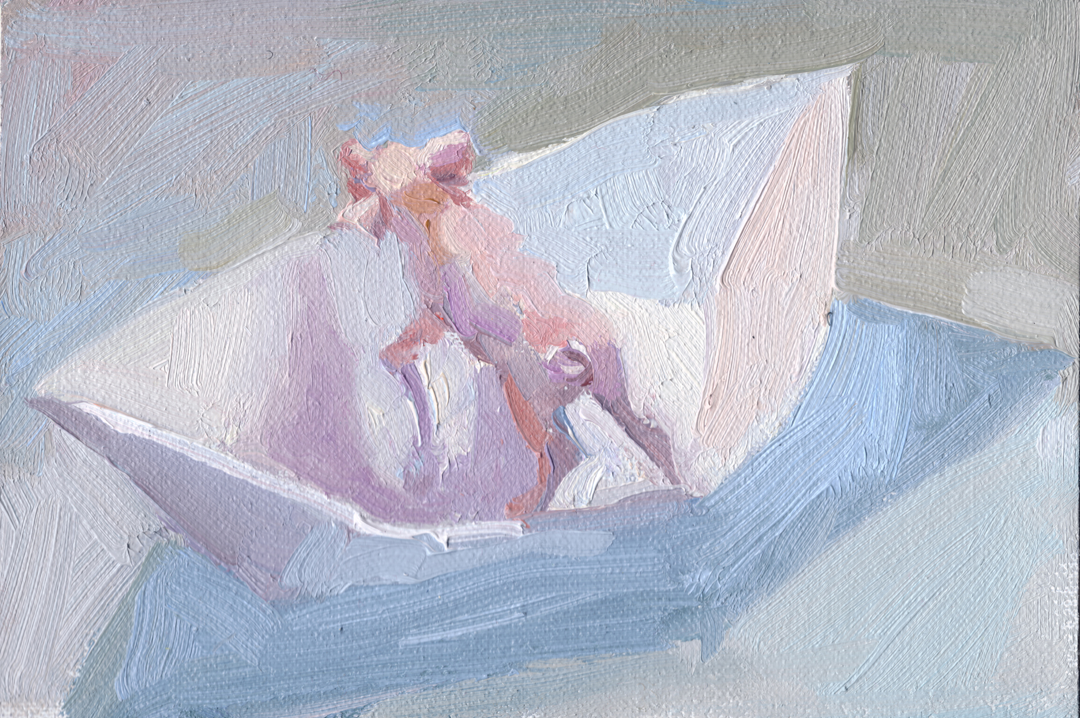 "In It, 2010, 4"" x 6"", oil on linen mounted on panel"