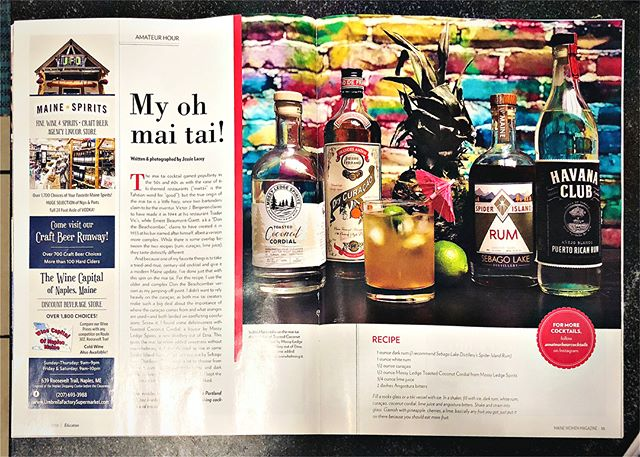 My, Oh Mai Tai! Mossy Ledge Spirits Toasted Coconut Cordial, @sl_distillery Spider Island Rum, @_havanaclub Rum, @pierreferrandpf Dry Curaçao, angostura bitters and lime juice in the new @mainewomenmagazine #coconutcordial #maitai #coconut 🥥 #tiki #tikicocktails #cocktailporn #cocktails #cocktailrecipe http://mainewomenmagazine.com/my-oh-mai-tai/