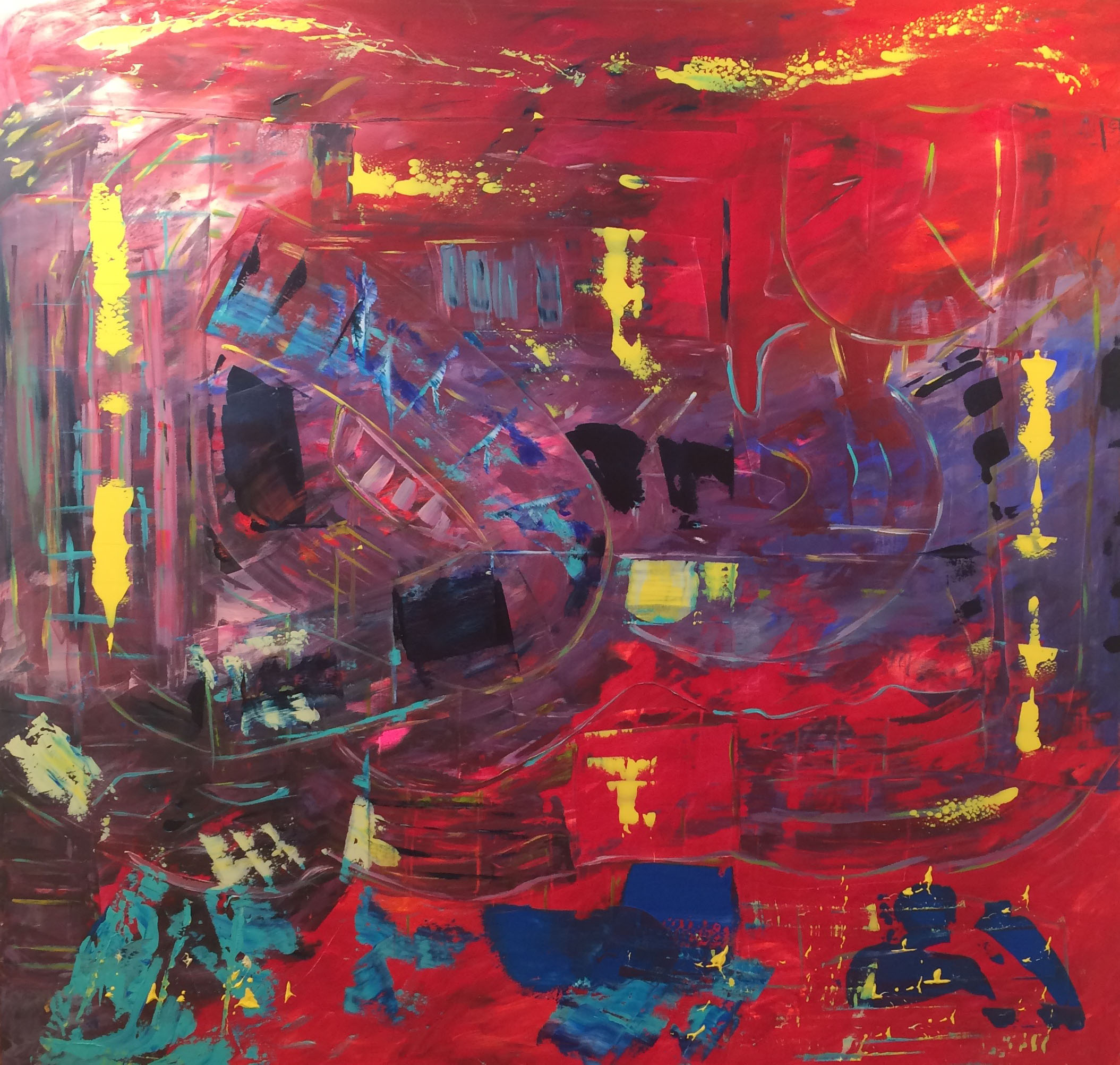 Kelly Fischer, [Soho NYC], 2015, 72inch x 72inch, Acrylic on Canvas.jpg