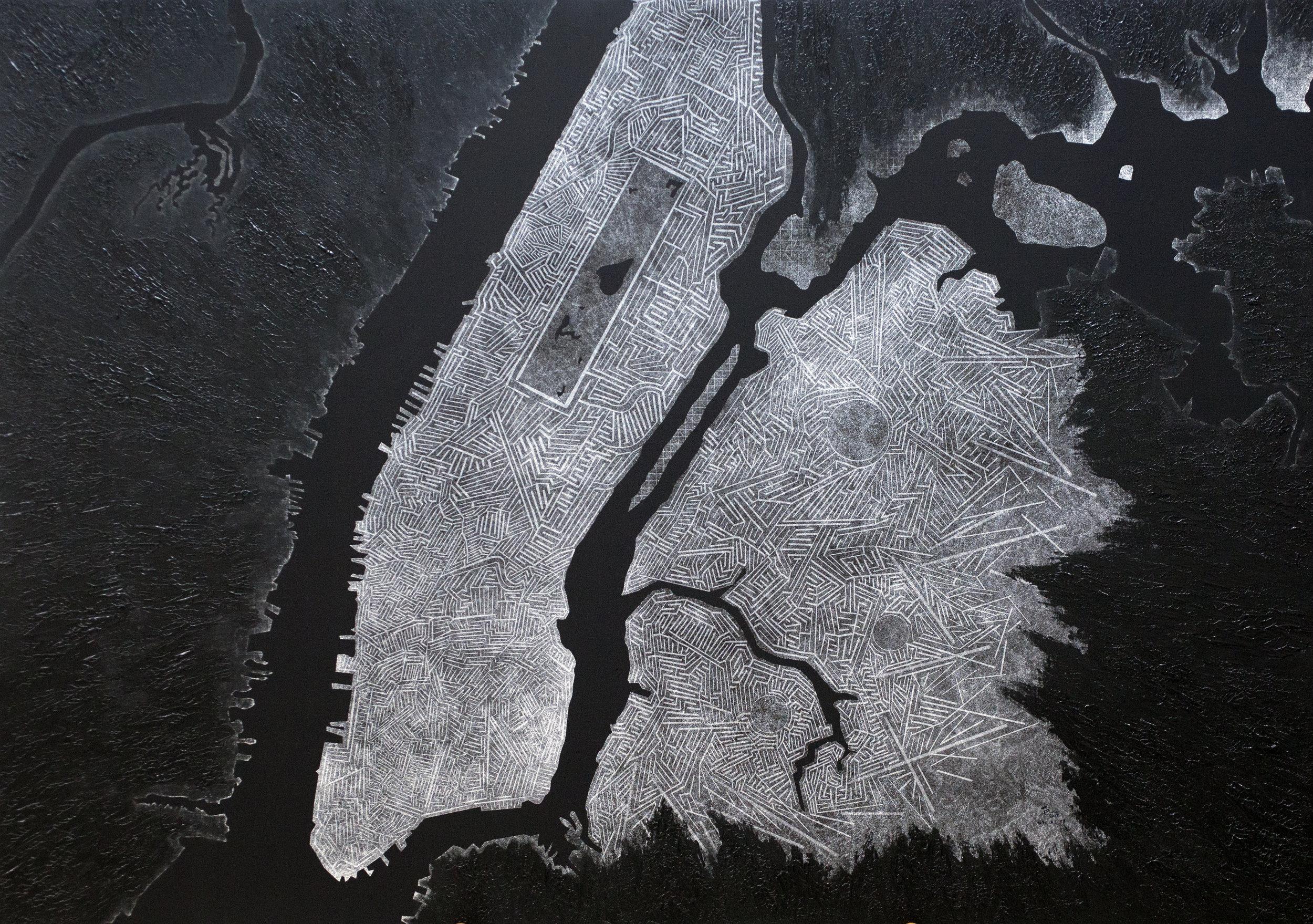 NYC 33 Years After Trump, 2017, 94cm x 133cm, Acrylic _ Giclee on Canvas.jpg