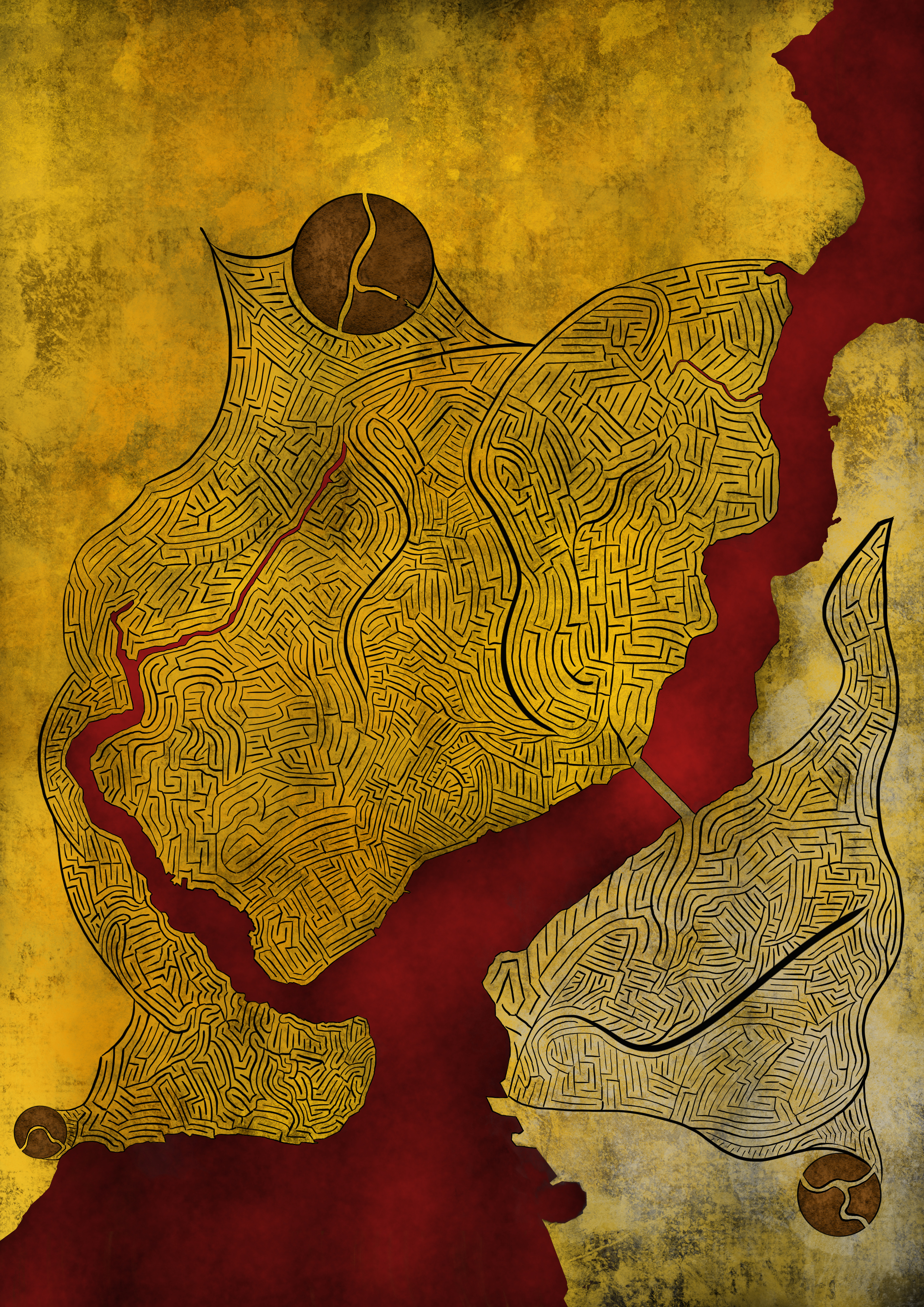 Occident - Orient, 2017, 84cm x 60cm, Giclee, Ink, Acrylic and Paper on Aluminium.jpg
