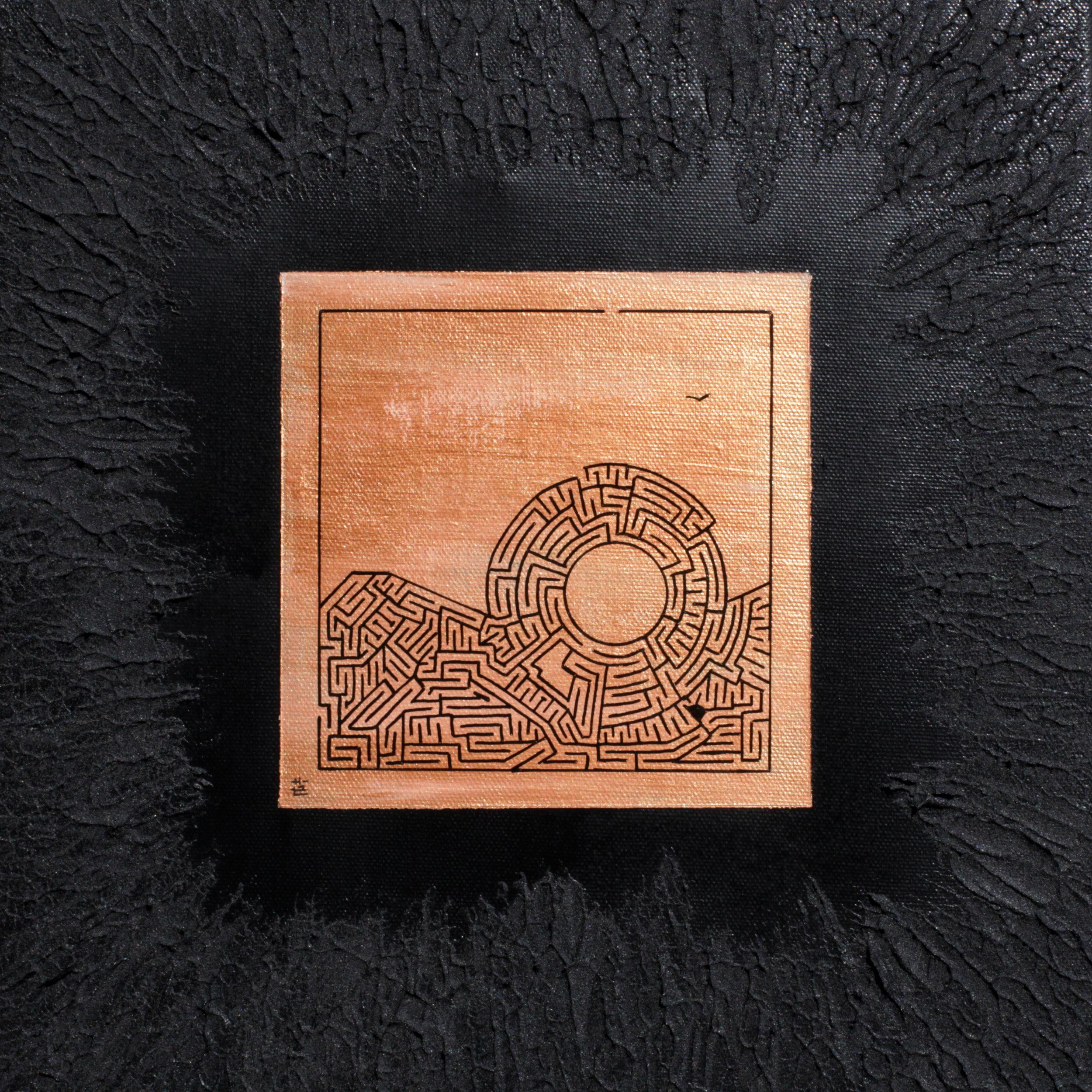 Miniature ro-302, 2018, 30cm x 30cm, Acrylic and Posca on Canvas.jpg