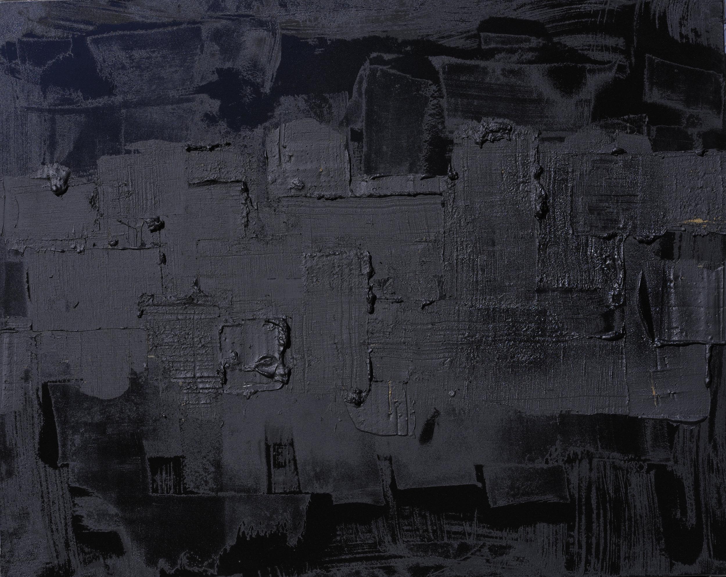 Black Void No. 9, 2016, 162cm x 130cm 100F, Mixed Media on Canvas.jpg