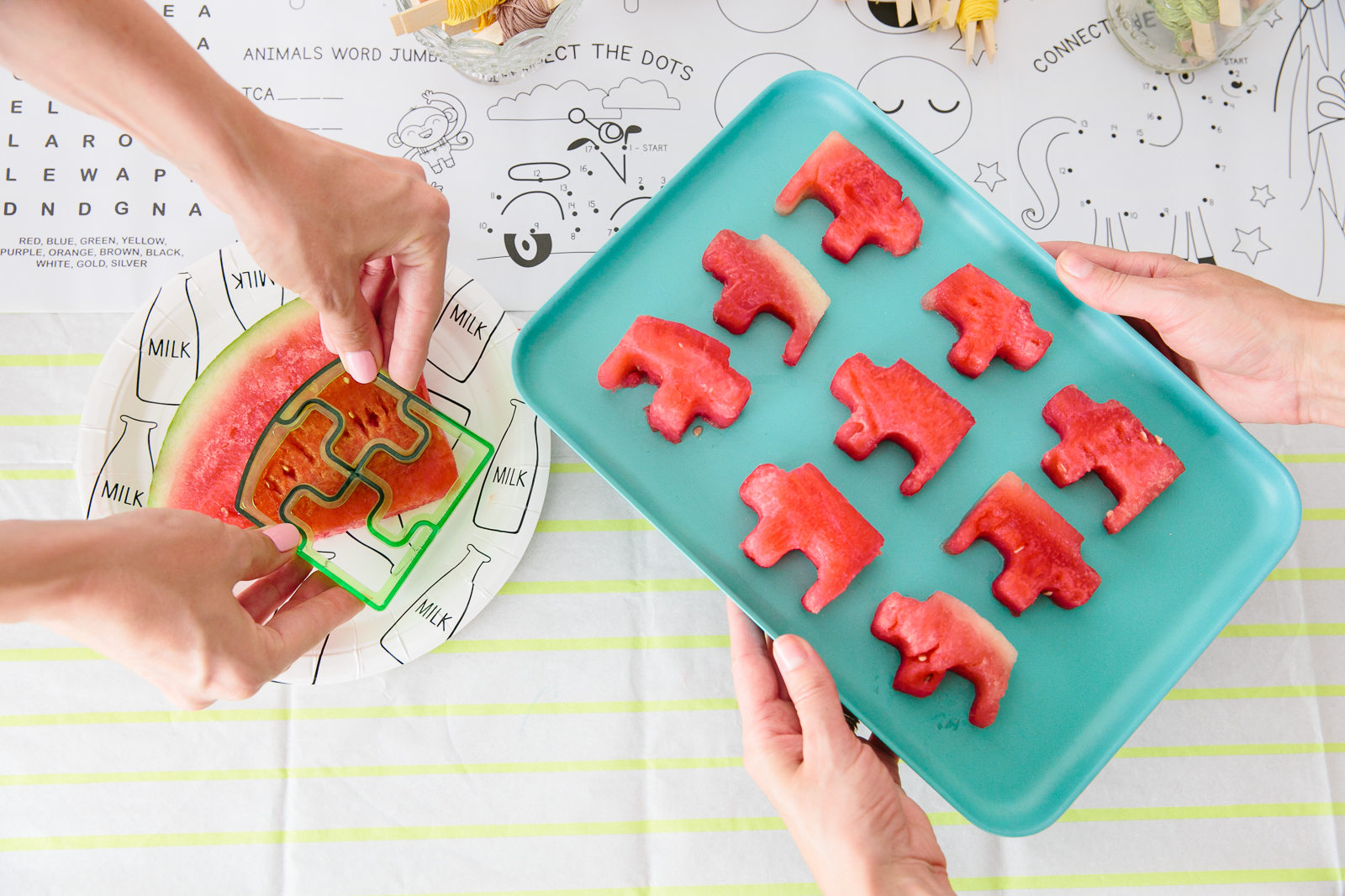 Oui Party - Back to School - Watermelon Puzzle Cutter