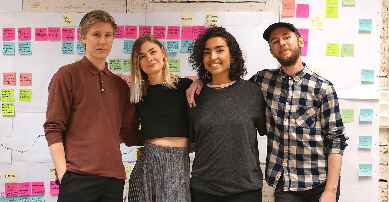 Nästa generations talanger från yrkeshögskolan Hyper Island tar sig an att hjälpa till med utvecklingen av Learnster.