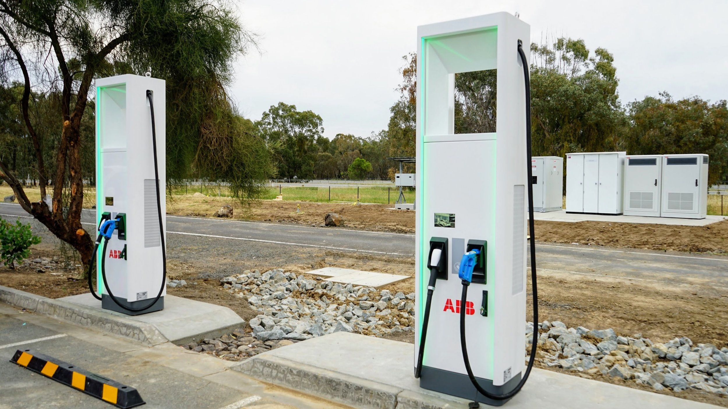 New high-powered charging stations manufactured by ABB. ChargeLab supports a number of leading fast charger manufacturers—including ABB—using the Open Charge Point Protocol (OCPP)
