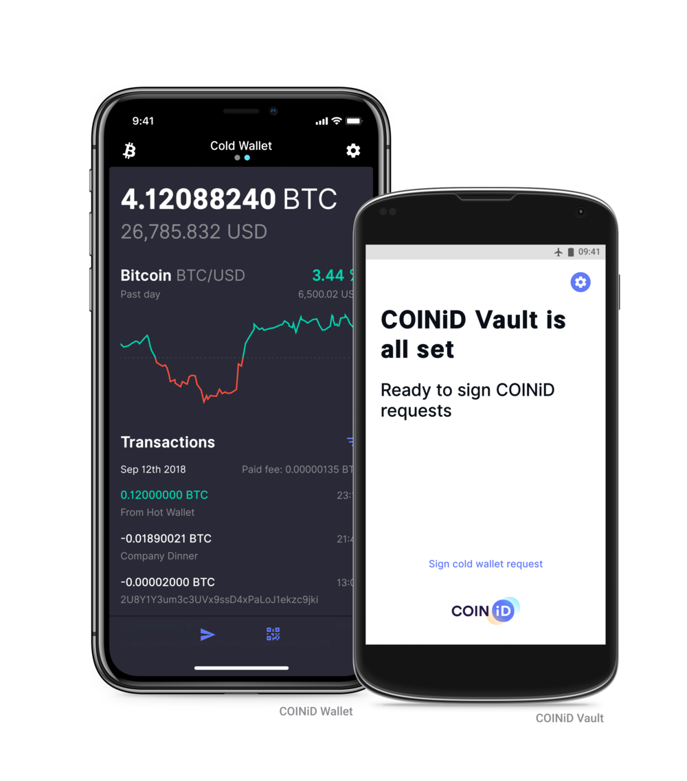 Install the COINiD Vault on a separate offline mobile device to create yourself a cold storage for your coins.