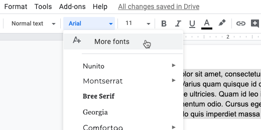 more fonts selection