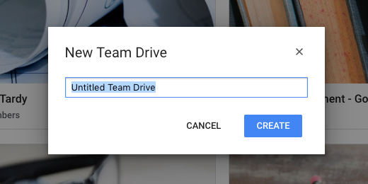 New Team Drive