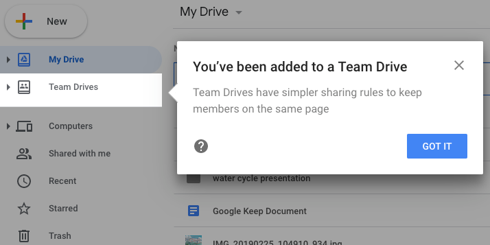 Non-organization members added to Team Drive
