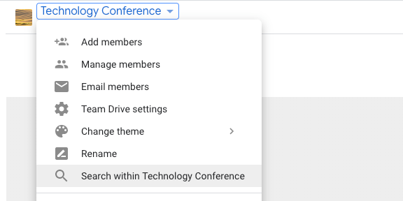 Search within a Team Drive