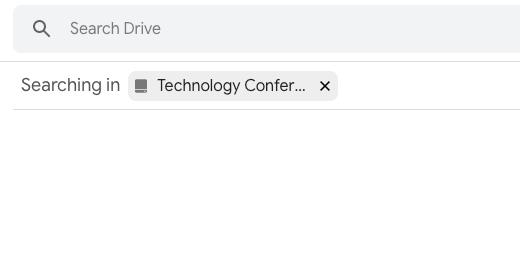 Team Drive search box