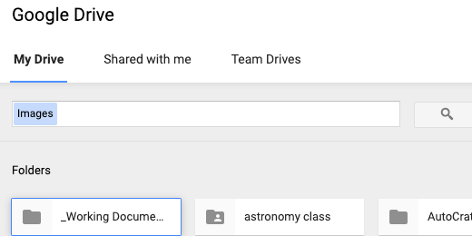 Select and image from Google Drive
