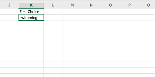 Function with first text selection