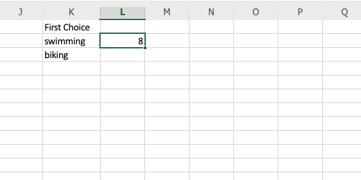 Position of character in searched text