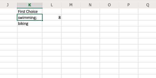 Word result from functions includes semicolon