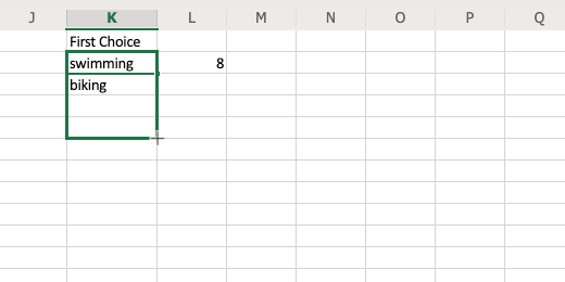 Copy to several cells in the column