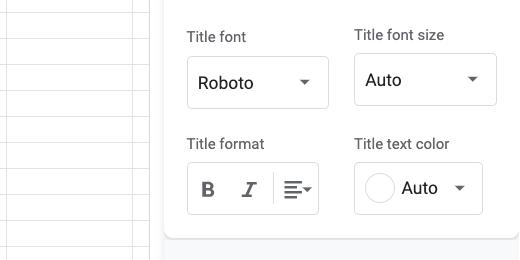 Chart title font options