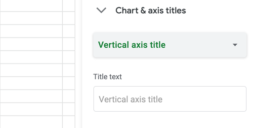 Vertical axis title field