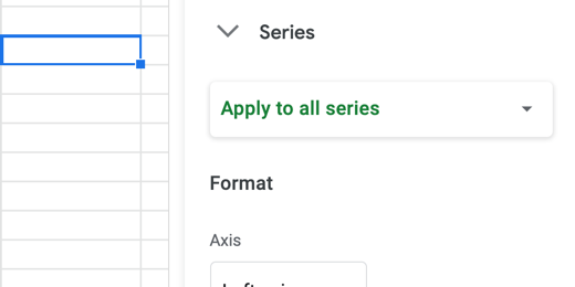 Formatting all series selector