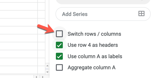 Switch rows and columns of data