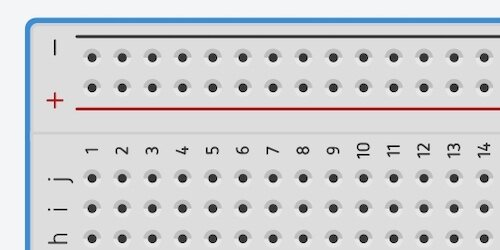 negative and positive breadboard connections