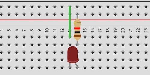 basic LED circuit setup